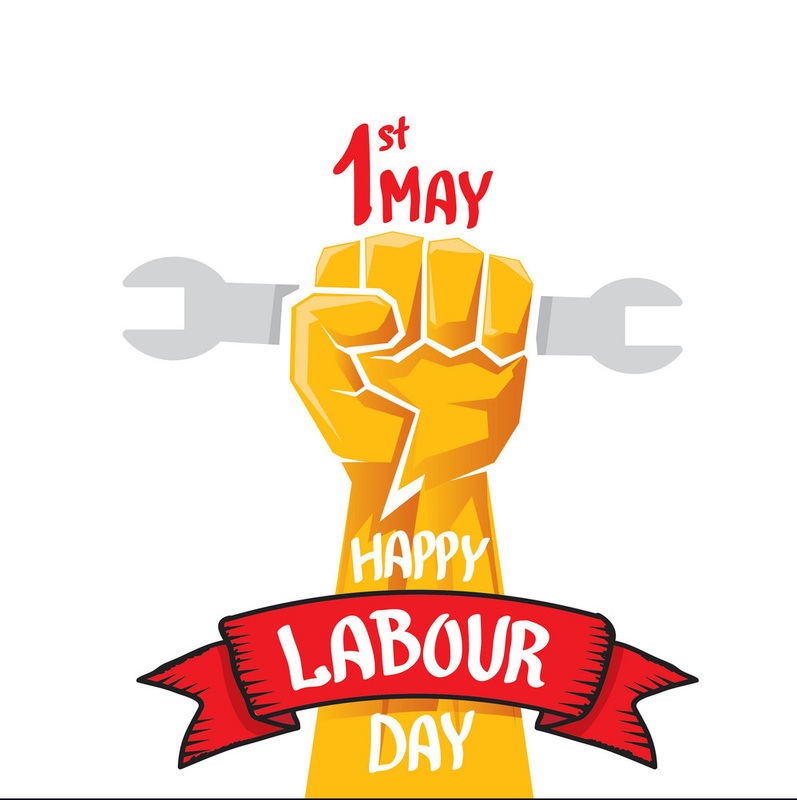 Happy labour day poster vector 8516314