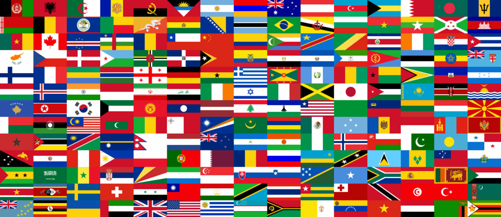 Collection national flags