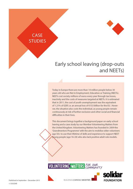2015 building learning societies case studies neets and early school leaving cover
