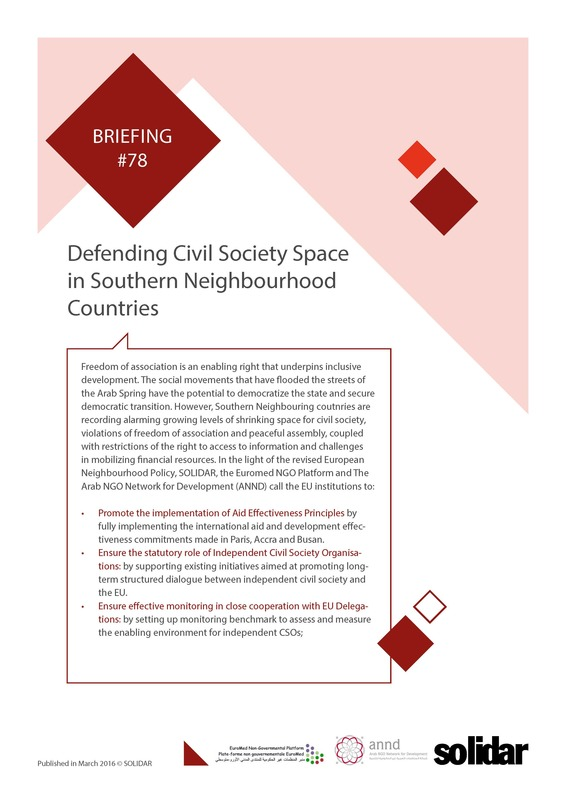 78 briefing organising international solidarity civil society space cover