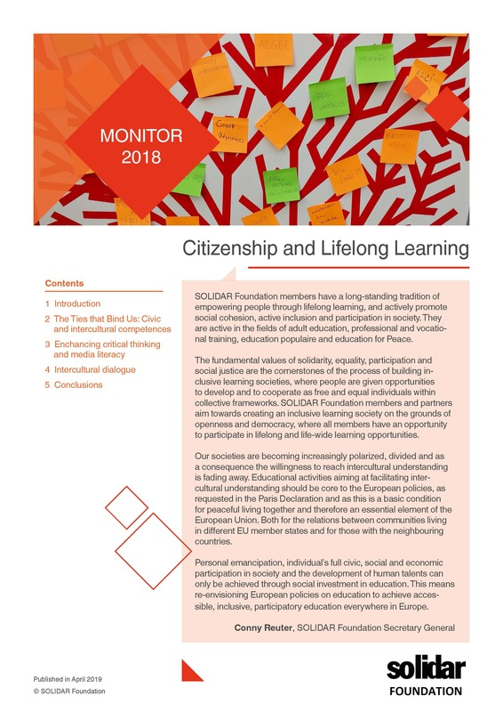 Cover citizenship and lifelong learning monitor 2018